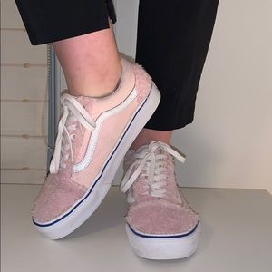 VANS Fuzzy Pink Lace-Up Sneakers